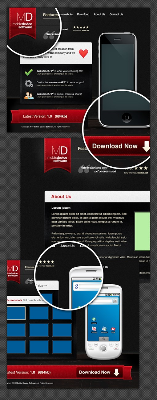 Mobile App Website Template