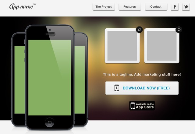 Mobile App Web Template