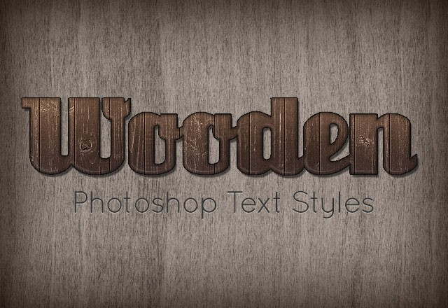Wooden Text Styles