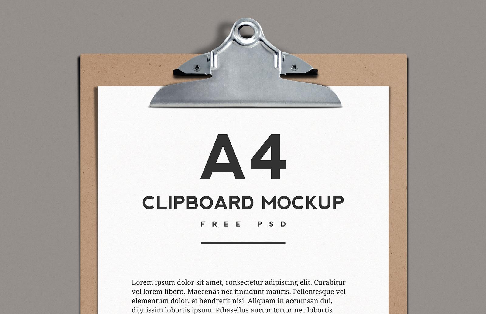 A4 Clipboard Mockup
