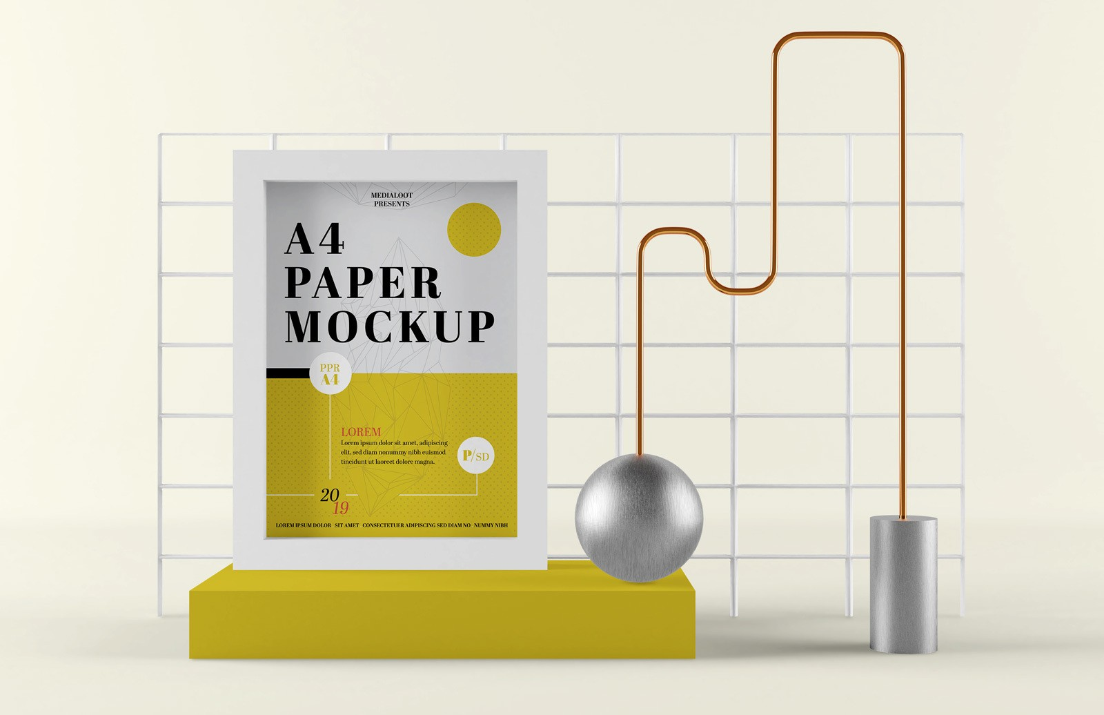 A4 Paper Composition Mockup Preview 1