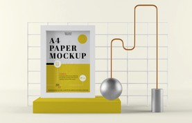 A4 Paper Composition Mockup