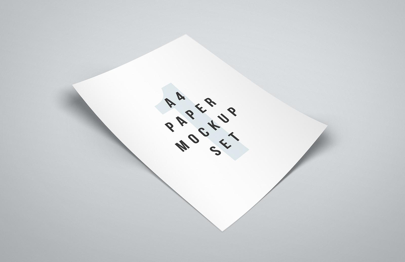 Download Free A4 Paper Mockup Set — Medialoot