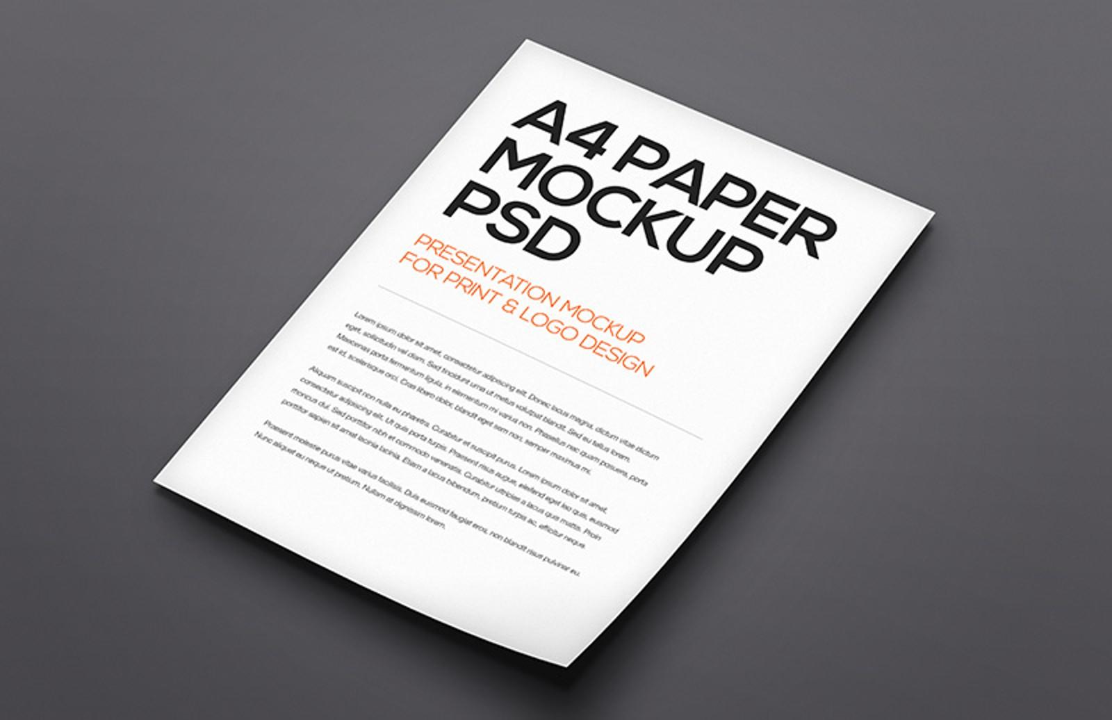Download Floating A4 Paper Mockup Vol 1 — Medialoot