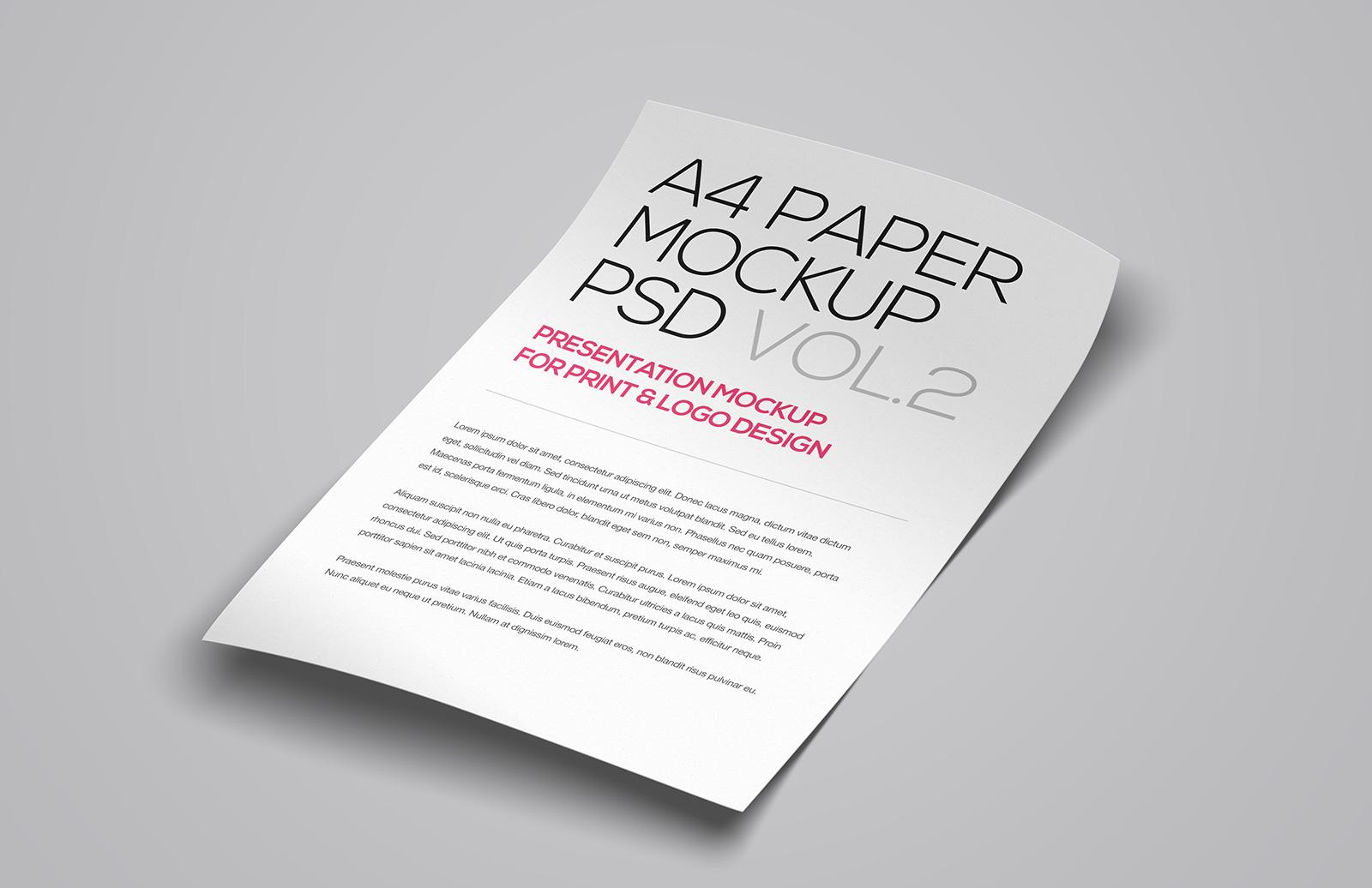 A4  Paper  Mockup  Vol 2  Preview 1