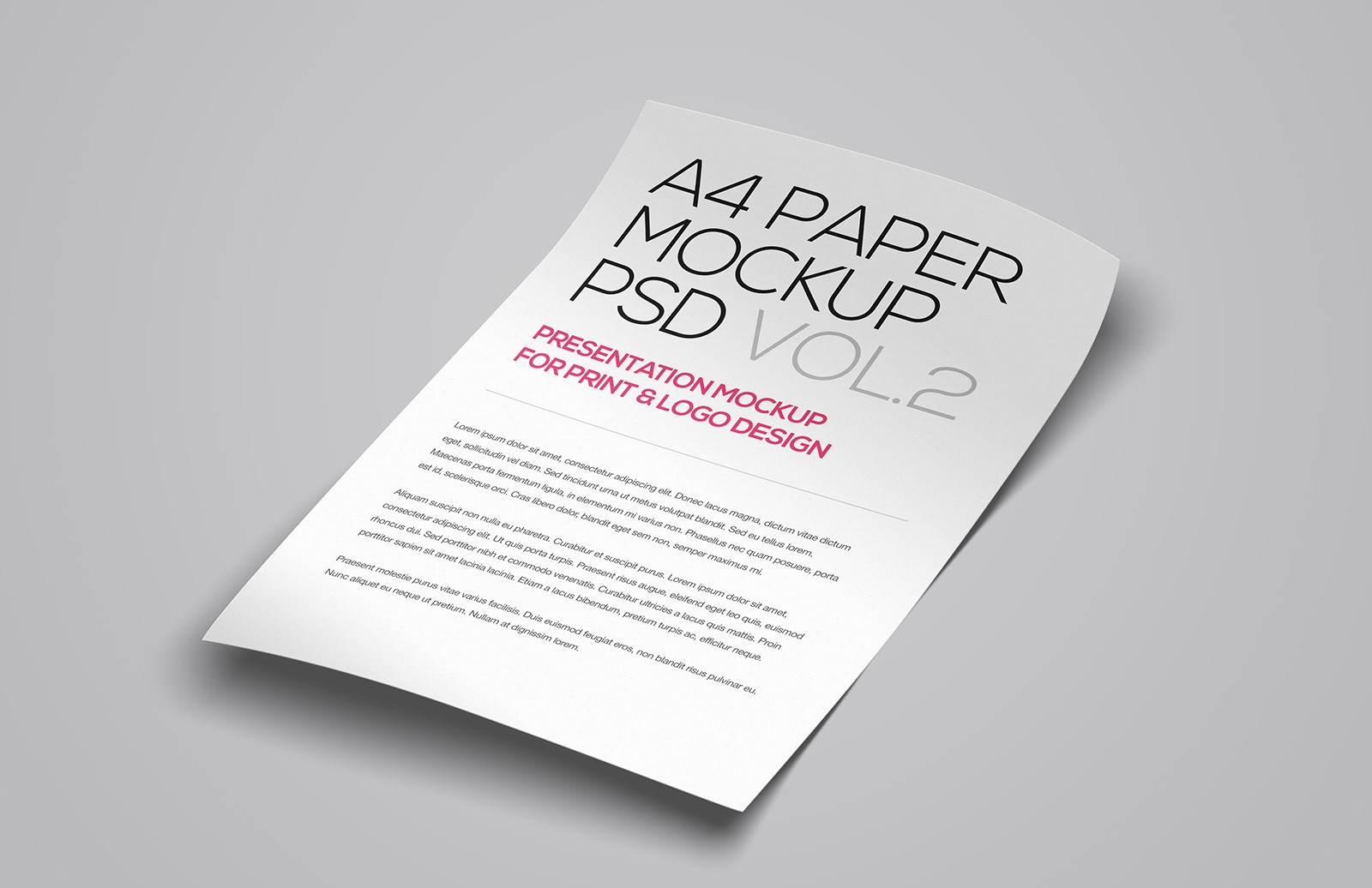 Floating A4 Paper Mockup Vol 2