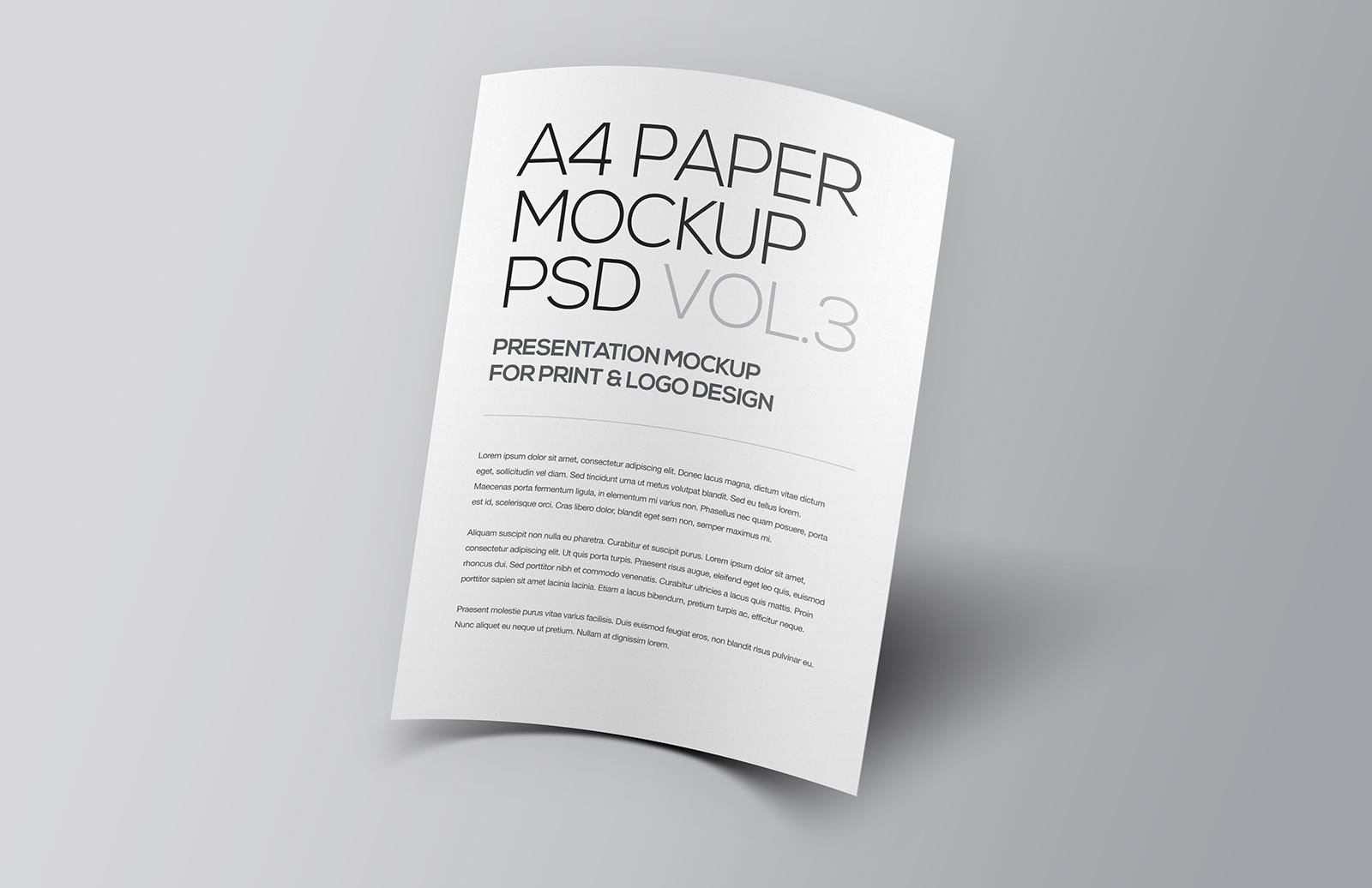 A4  Paper  Mockup  Vol 3  Preview 1