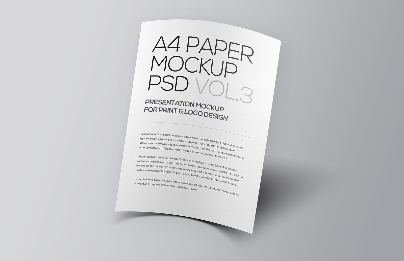 Floating A4 Paper Mockup Vol 3
