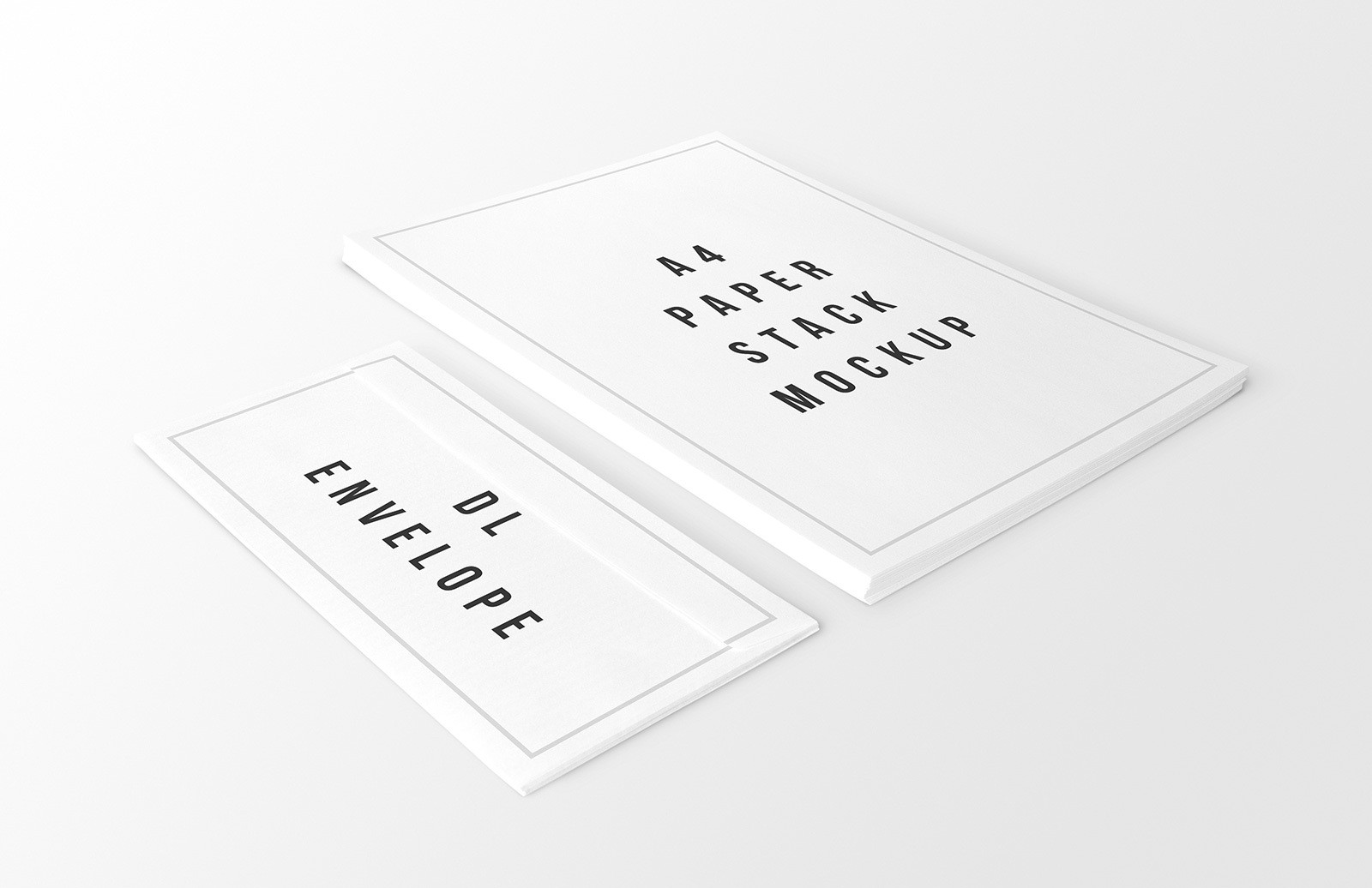 A4 Paper Stack Envelope Mockups Preview 1