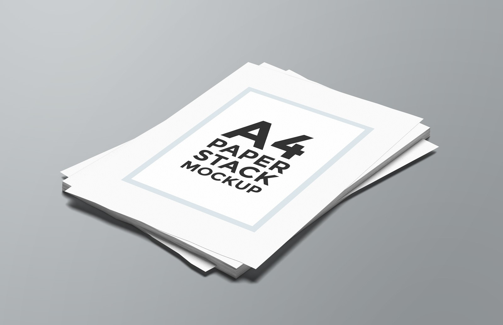 A4 Paper Stack Mockup Preview 1