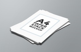 A4 Paper Stack Mockup