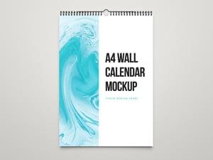 A4 Wall Calendar Mockup 1