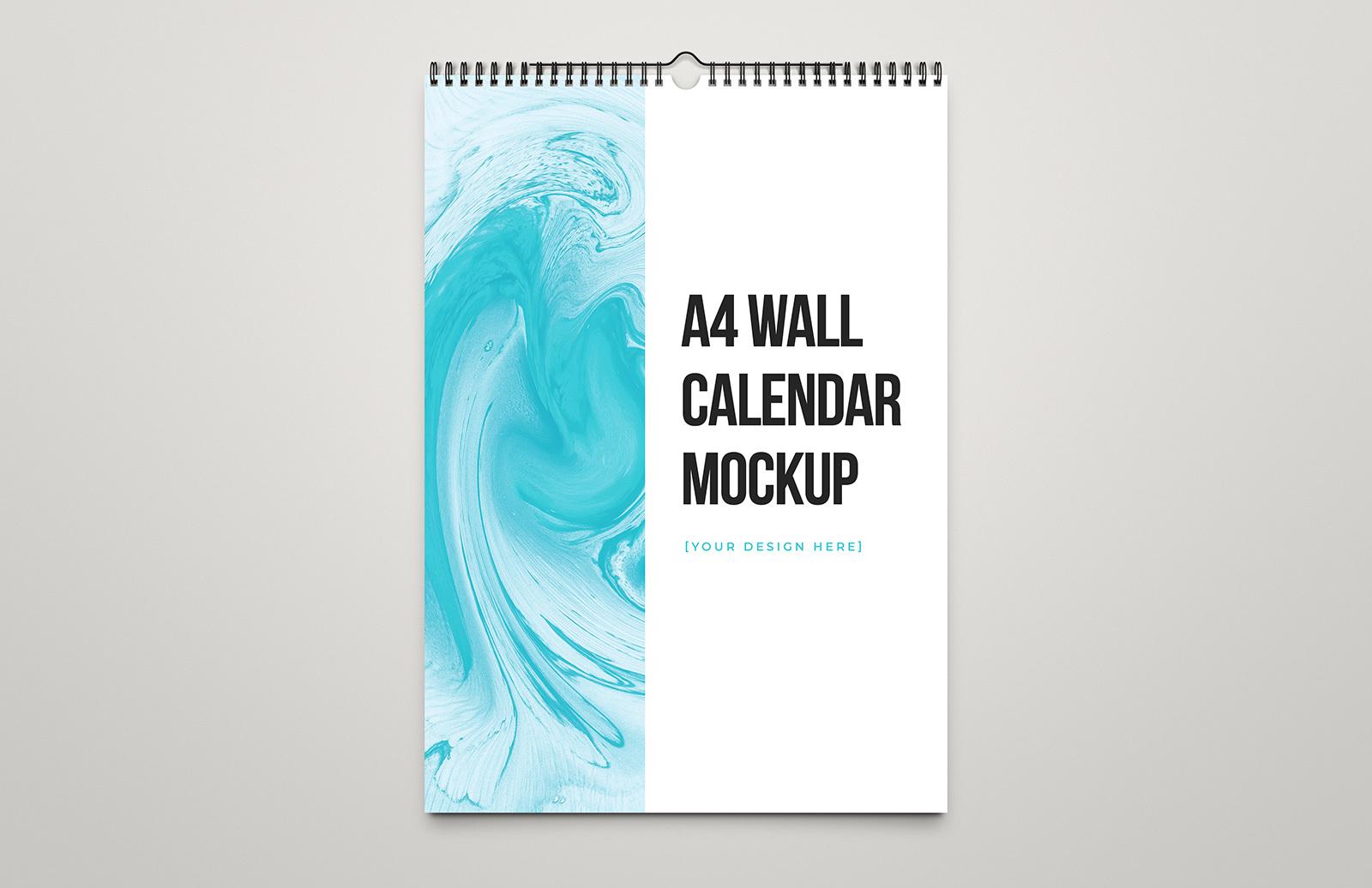A4 Wall Calendar Mockup Preview 1
