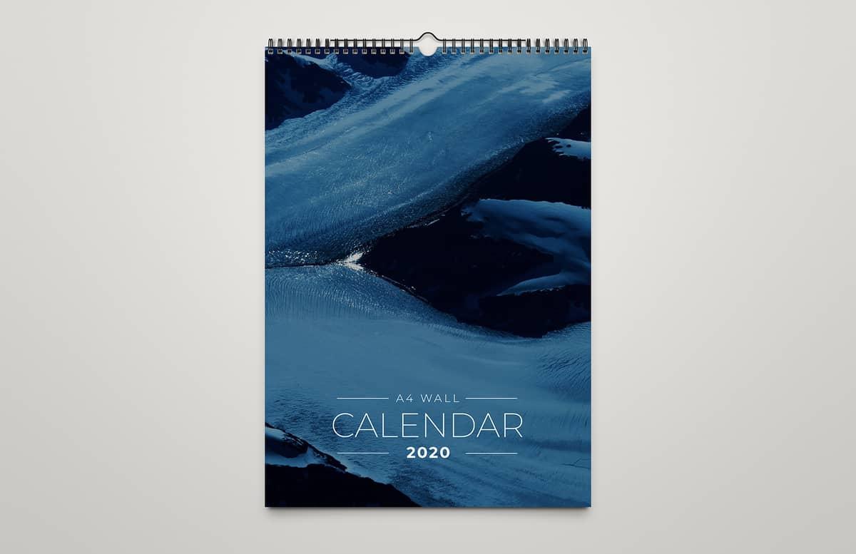 A4 Wall Calendar Template 2020 Preview 1