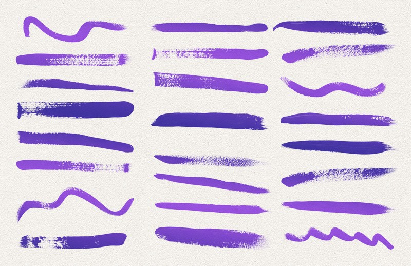 200 Acrylic Paint Photoshop Brushes 2