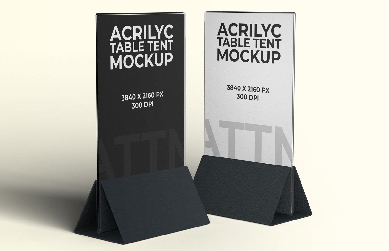 Acrilyc Table Tent Mockup Preview 1