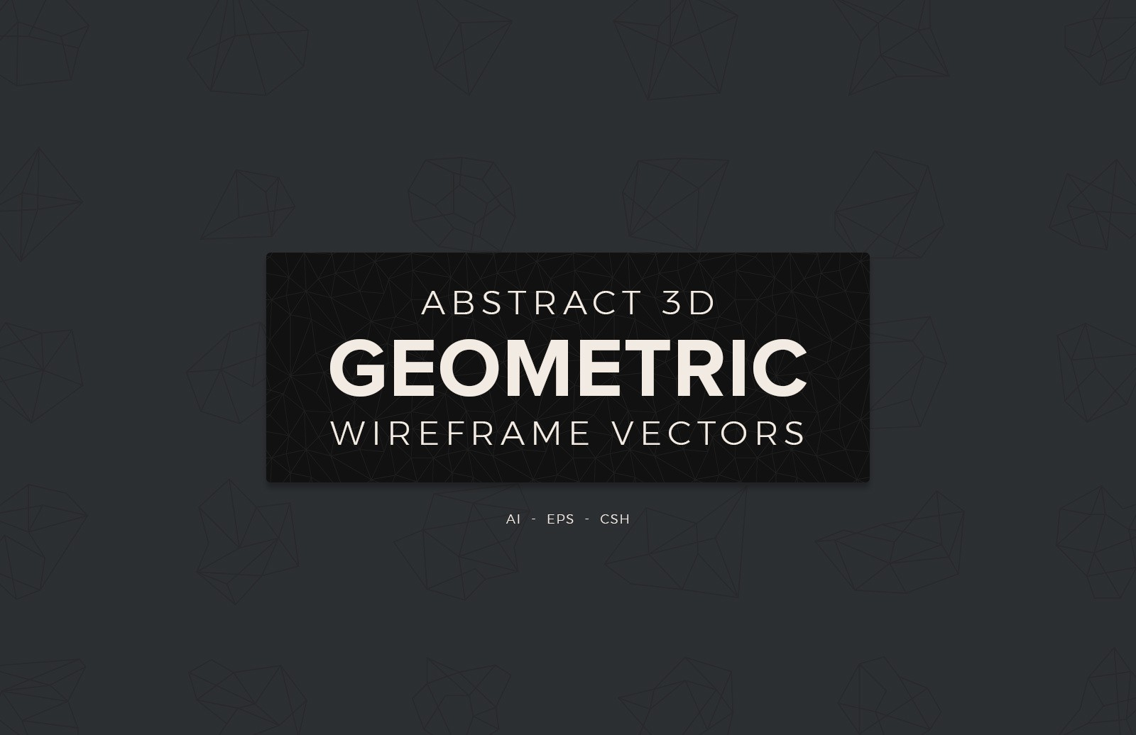 Abstract 3 D Geometric Wireframe Vectors Preview 1