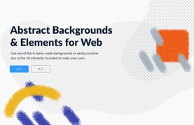 Abstract Backgrounds and Elements for Web