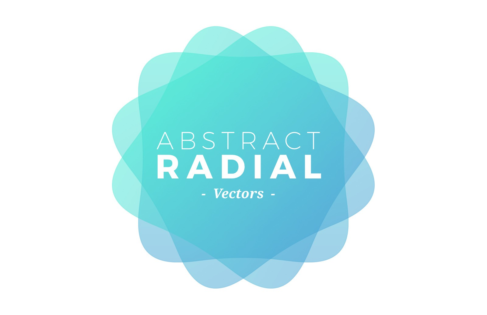 Colorful Geometric Radial Vectors