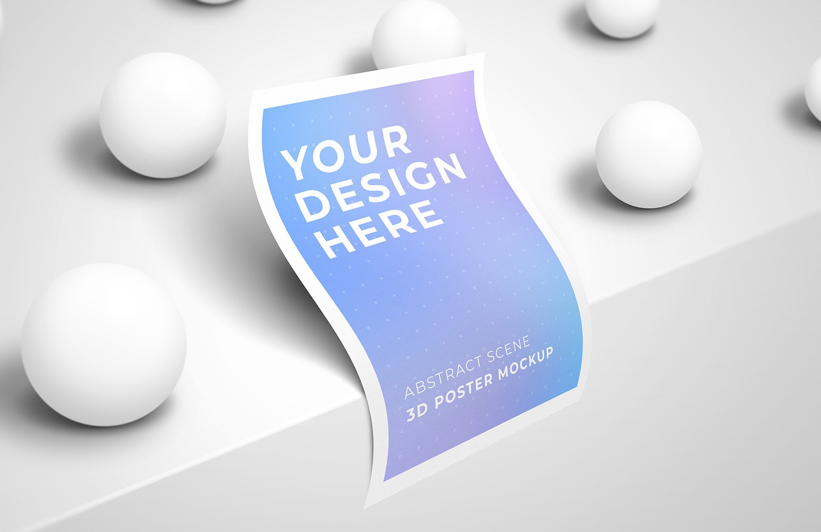 Abstract Scene 3 D Poster Mockup Preview 1