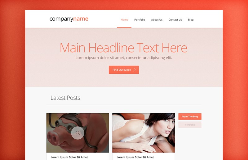 Agency Website Layout (HTML/CSS) 1