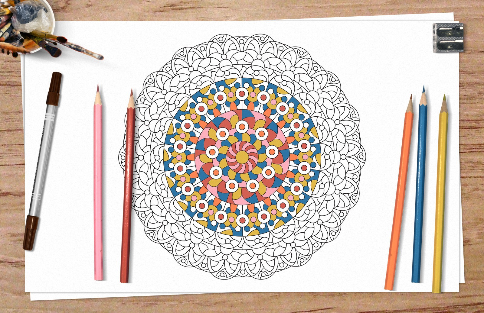 Adult Coloring Pages Preview 1