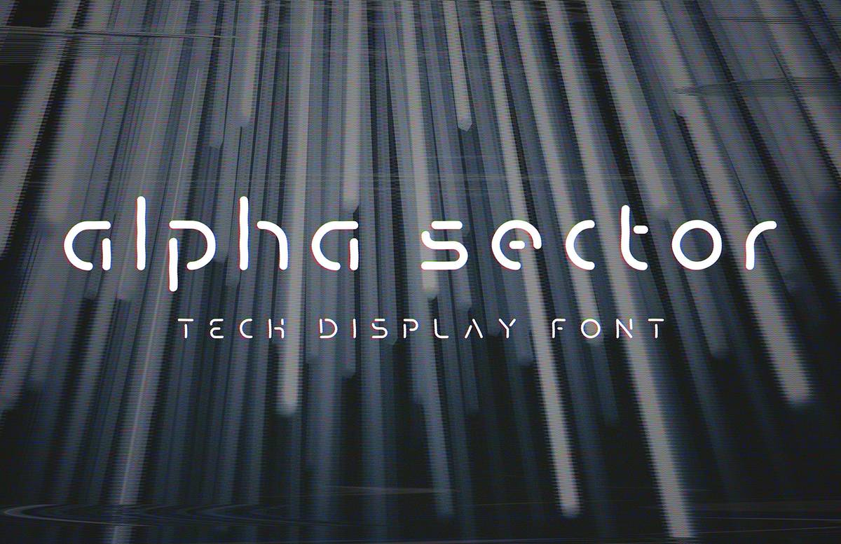 Alpha Sector Tech Font V2 Preview 1