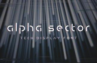 Alpha Sector - Tech Font