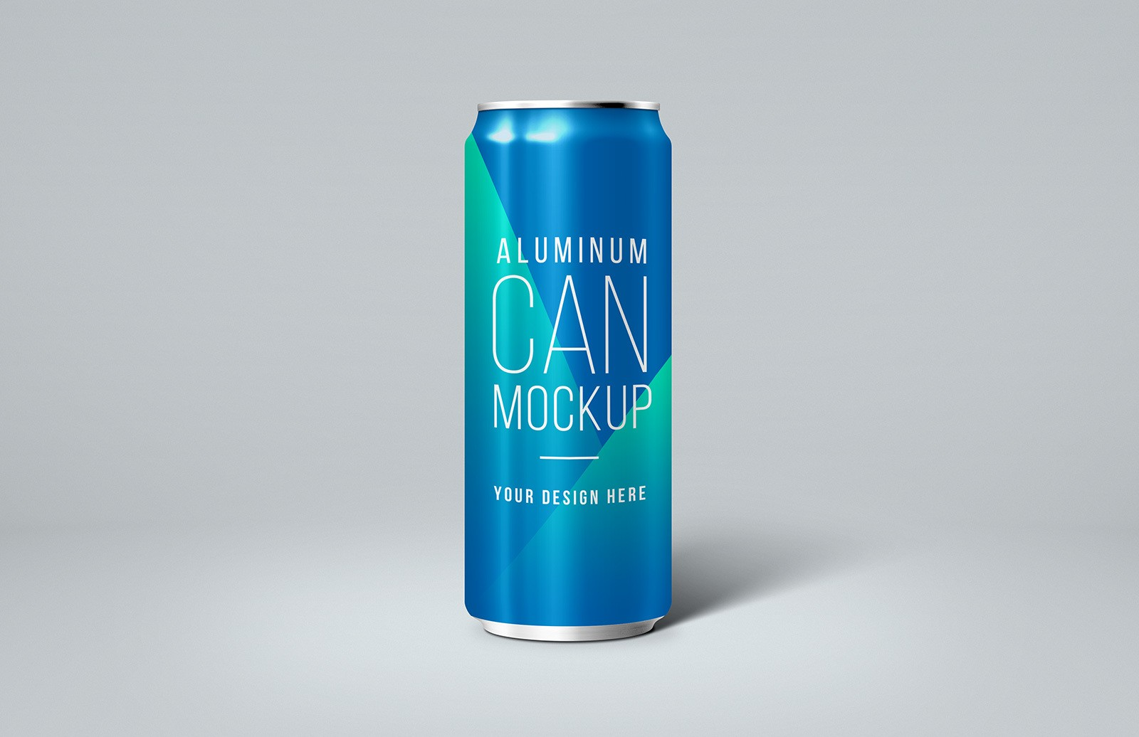 Thin Aluminum Can Mockup