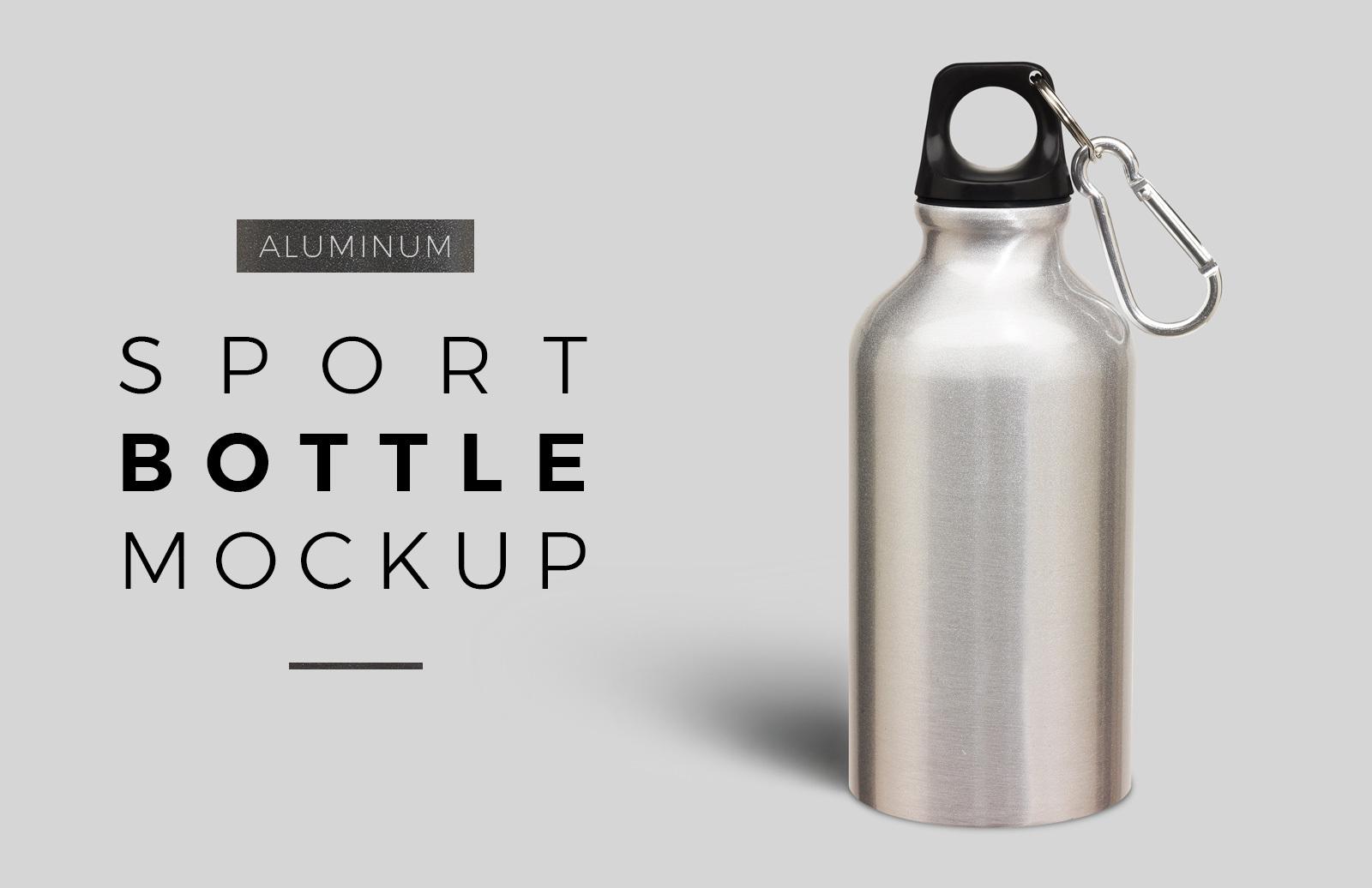Aluminum Sport Bottle Mockup