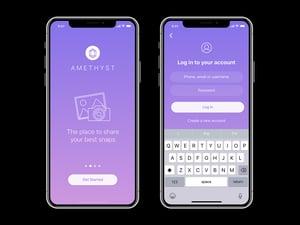 Amethyst: Free iPhone X App UI 2