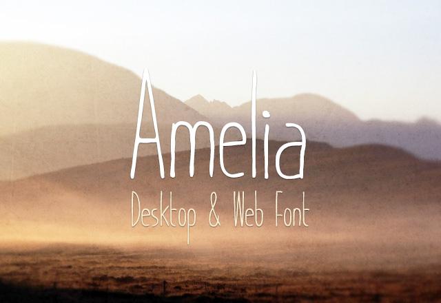 Amelia Desktop & Web Font