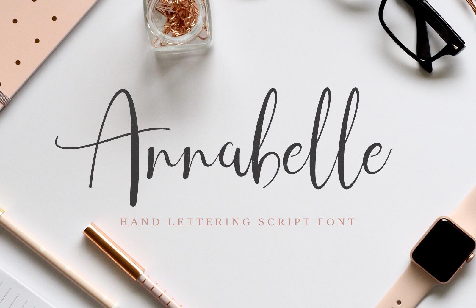 Annabelle - Hand Lettering Script Font
