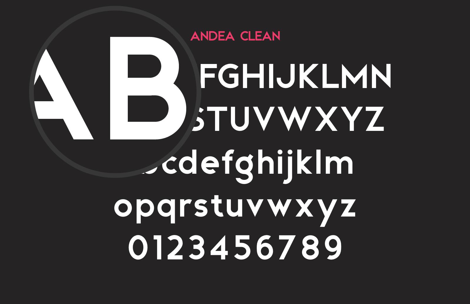 Andea  Geometric  Sans  Preview 2