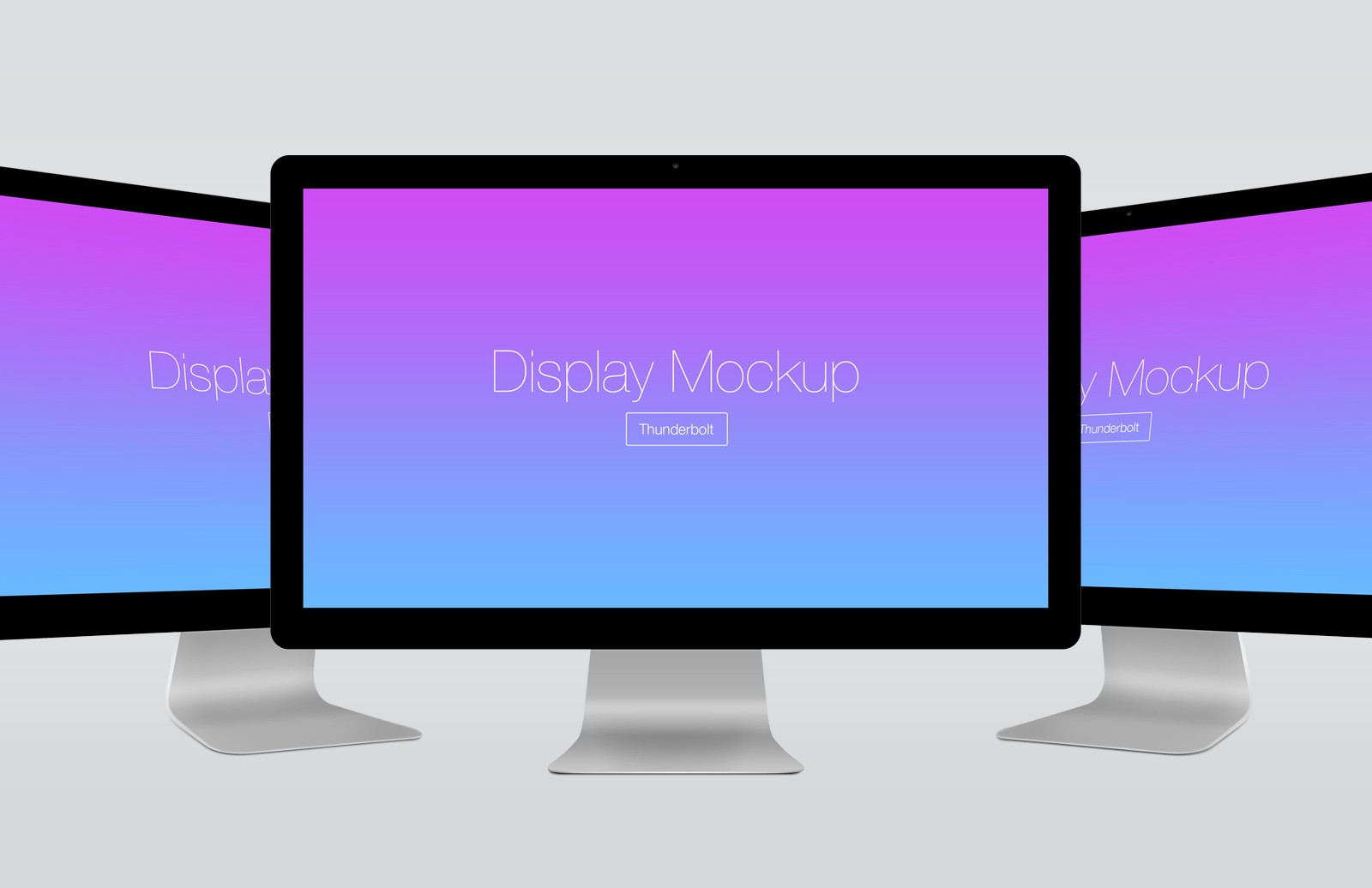 Large Angled  Thunderbolt  Display  Mockup  Preview 1