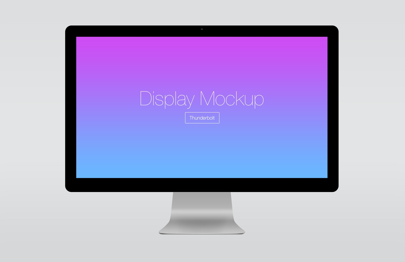 Large Angled  Thunderbolt  Display  Mockup  Preview 2