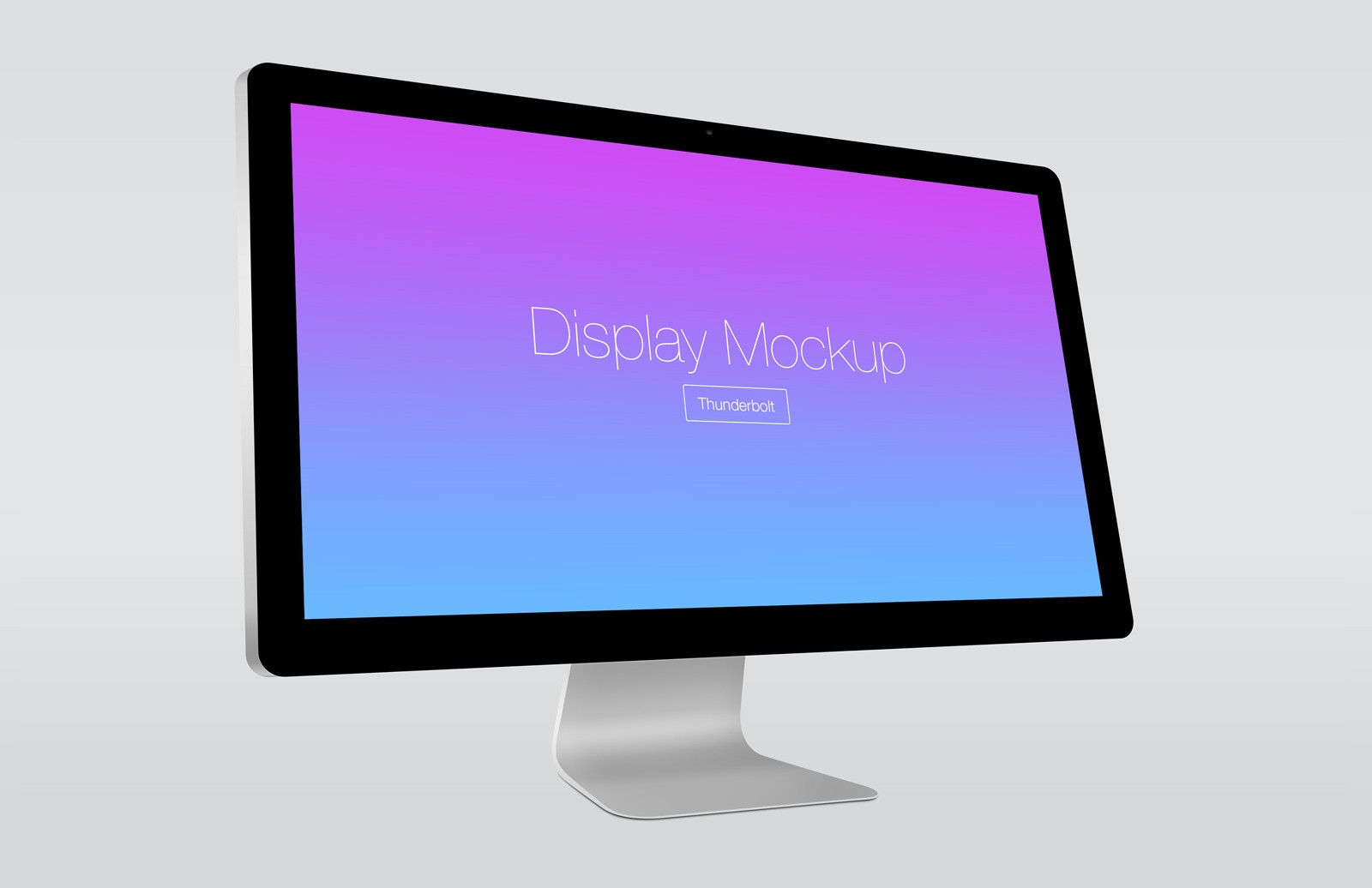 Large Angled  Thunderbolt  Display  Mockup  Preview 3