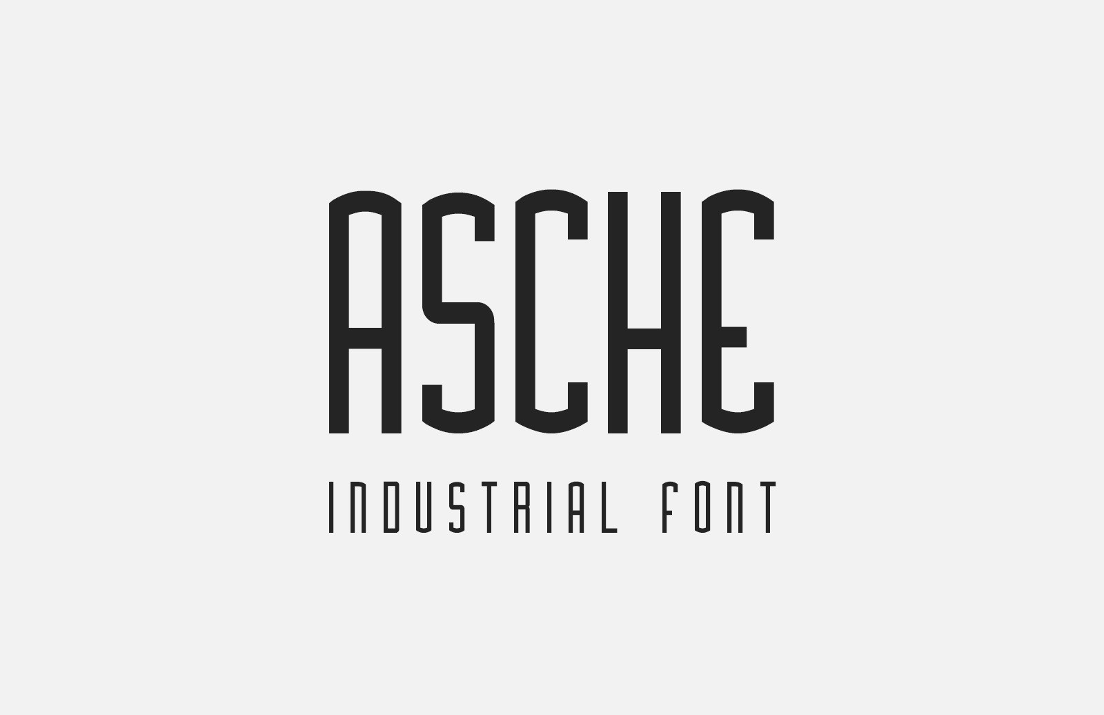 Asche Industrial Font Preview 1