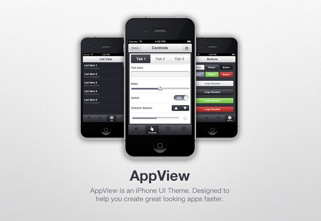 App View I Phone  Ui  Theme  Preview1