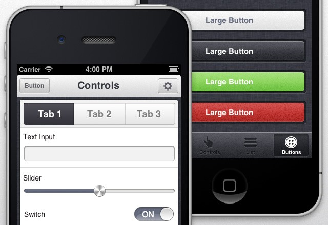 Large App View I Phone  Ui  Theme  Preview2