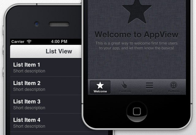 Large App View I Phone  Ui  Theme  Preview2B