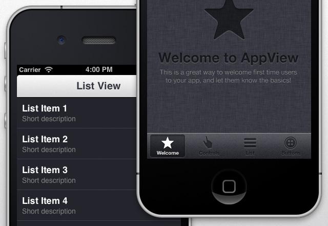 App View I Phone  Ui  Theme  Preview2B