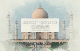 Architecture Sketch Photoshop Template