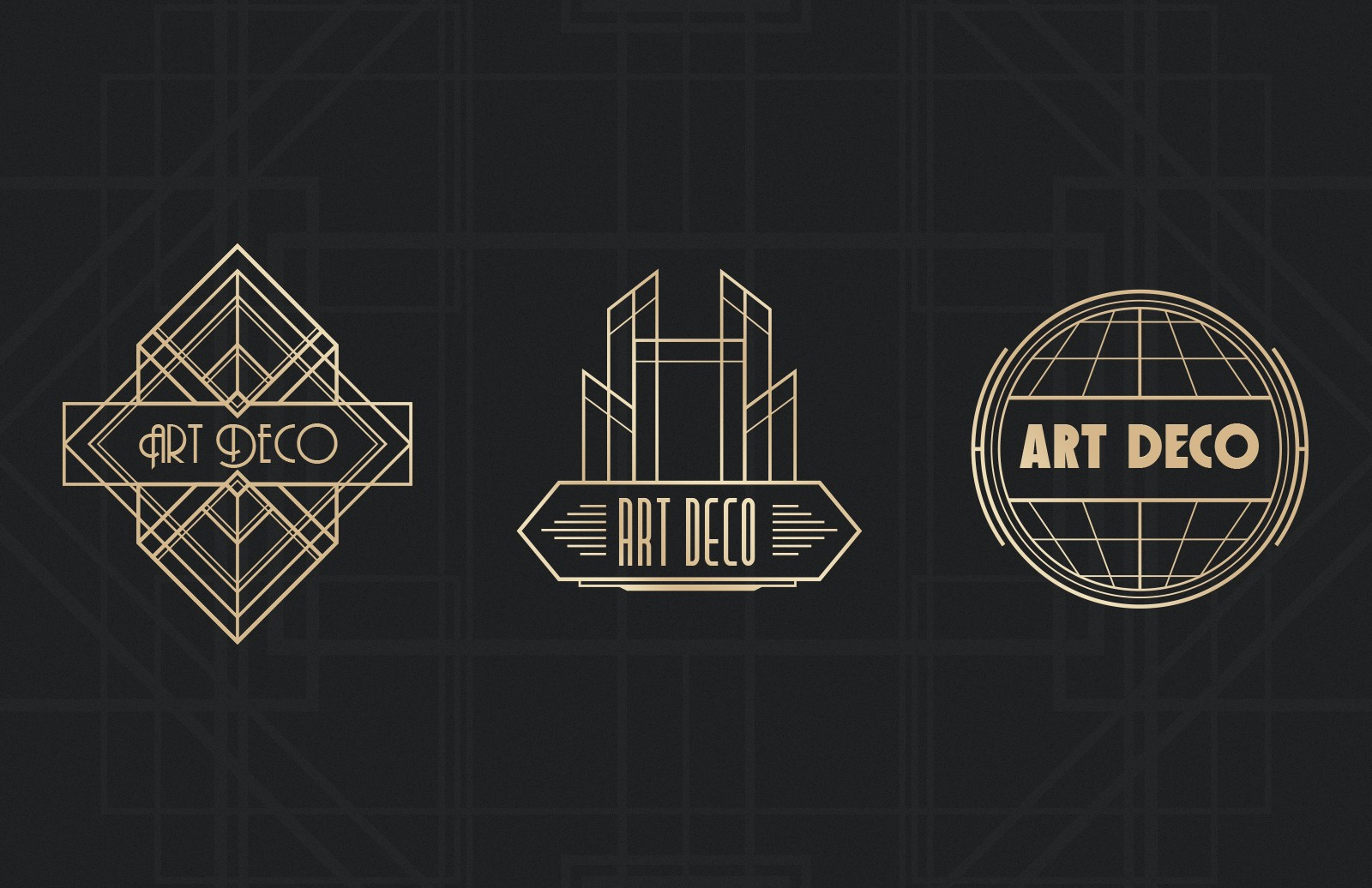 Large Art  Deco  Badges  Preview 3C