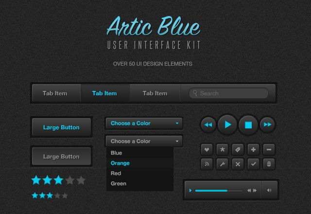 Arctic Blue UI Kit