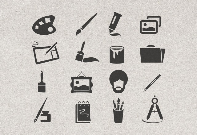 Large Artist  Vector  Icons  Preview2