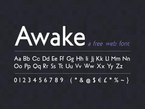 Awake Sans: Free Web Font 1