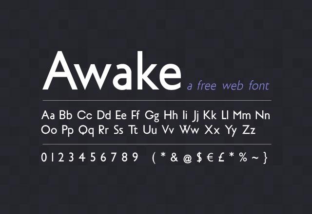 Awake Sans: Free Web Font