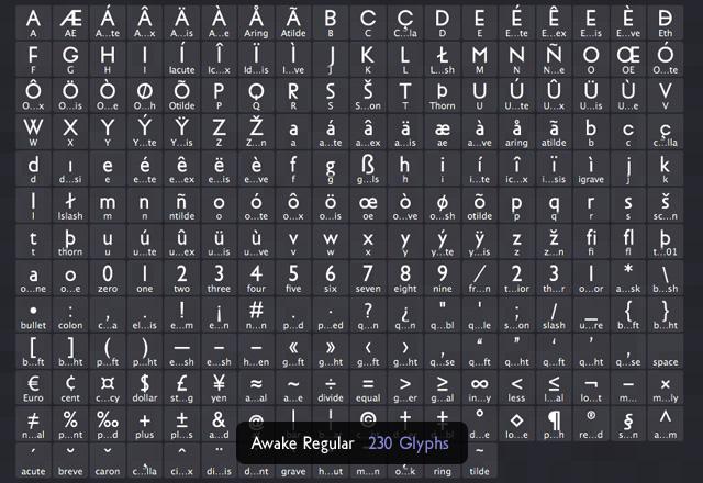 Awake Sans: Free Web Font 2