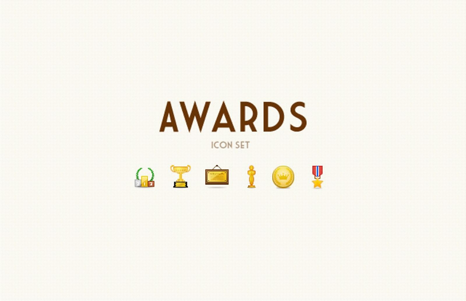 Awards  Icon  Set  Preview1